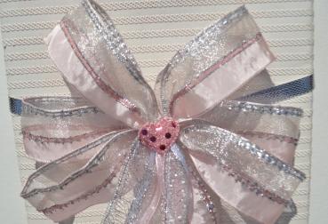 9a516ad8b1bee3 Geschenkschleife, Zuckertütenschleife, Schultüten Schleife, Hochzeits  Dekoschleife