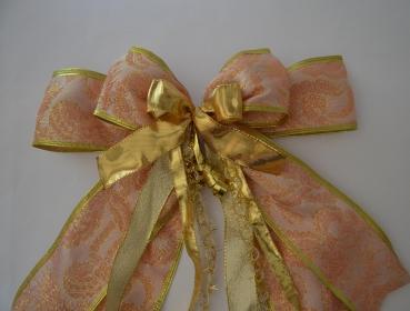 54af209ca3a53f Grosse Geschenkschleife, Brokat für ein besonderes Geschenk - rose