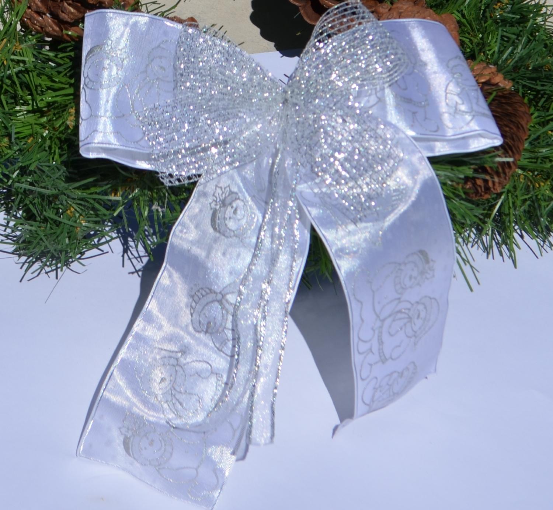 schleifenparadies schneemann weihnachtsschleife mit. Black Bedroom Furniture Sets. Home Design Ideas