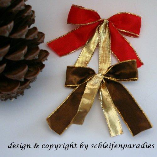 schleifenparadies christbaumschleife christbaumanh nger schleife weihnachtsbaum. Black Bedroom Furniture Sets. Home Design Ideas
