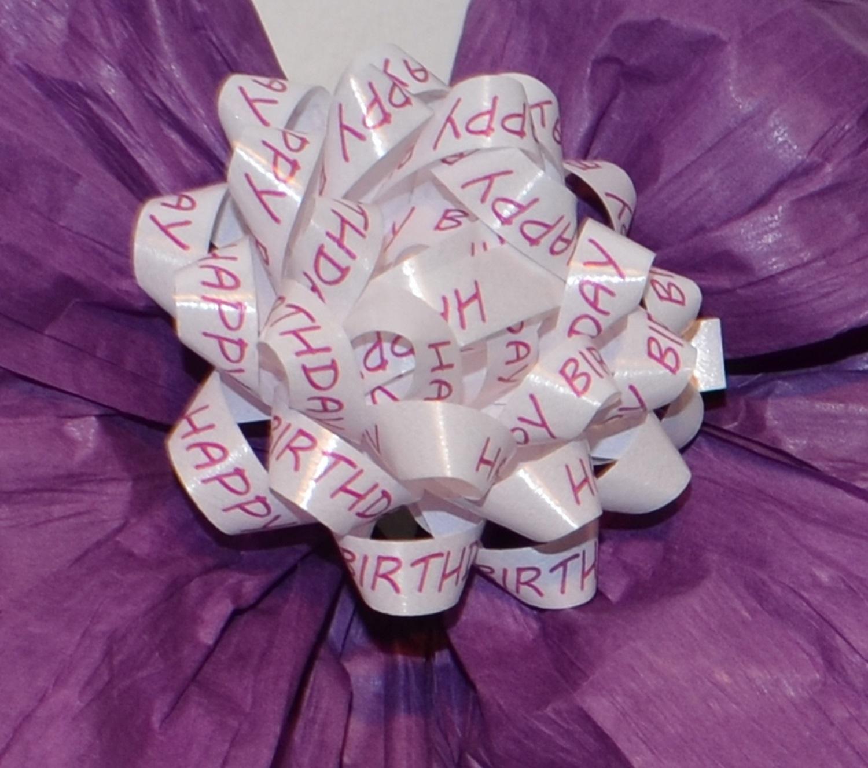 Schleifenparadies - Happy BIrthday Geschenkschleifen, 4 Stück plus ...