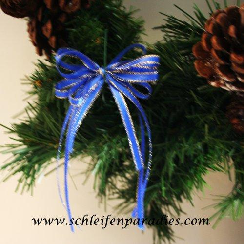 Schleifen Weihnachtsbaum.10 Stück Schleifen Christbaumschmuck Selbstklebende Geschenkschleife Königsblau Gold